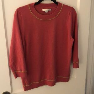 Pink & Gold Boden Wool Sweater